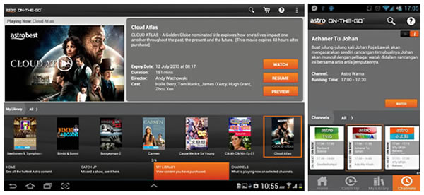 Figure 3: ASTRO's Tablet and Mobile App UX Capture