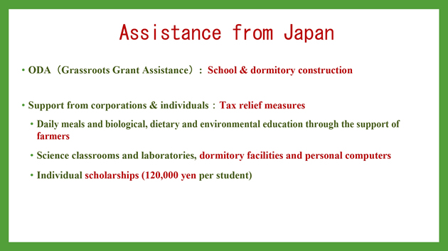 Assistance from Japan